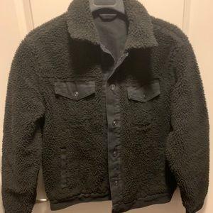 Forever21 Black Reversible Denim Jacket